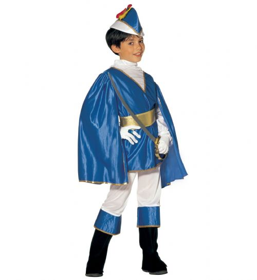 Boys Blue Prince Costume Fancy Dress